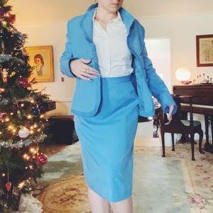 Lilli Ann Pastel Blue Skirt Suit vintage work set